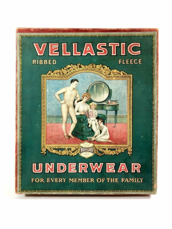 1910s-1920s UTICA VELLASTIC Ribbed Fleece UNDERWEAR Fashion Box