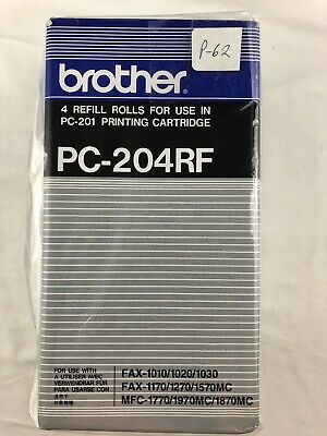 Brother PC204RF Thermal Transfer Refill Roll, Black, 4/PK ( BRAND NEW )