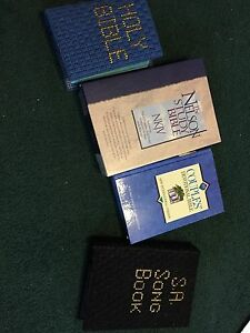 Bible and Salvation Army song books