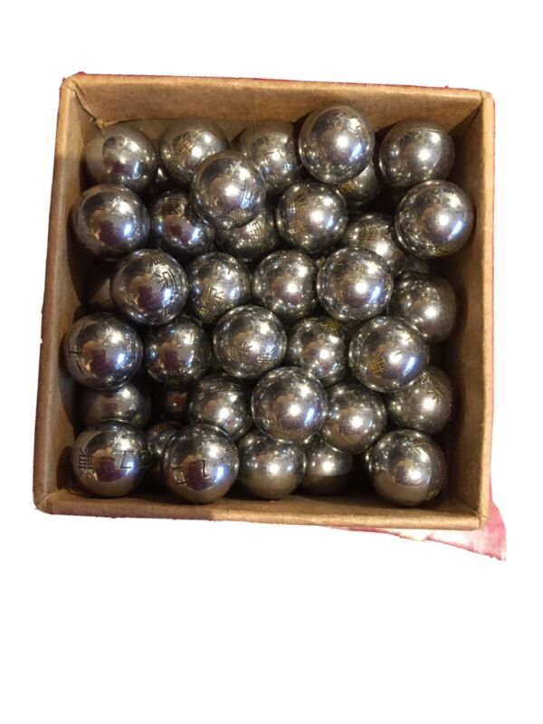 PACHINKO Balls 83 Classic Vintage Old Antique ENGRAVED Japan