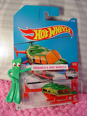 PROPPER CHOPPER 41✰Green/red; Fire Air Ops✰HW RESCUE✰2017 i Hot Wheels Case B/C