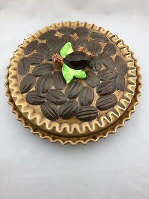 Vintage Southern Pecan Pie Recipe Baking Dish and Lid EXCELLENT CONDITION Bake Pecan Pie