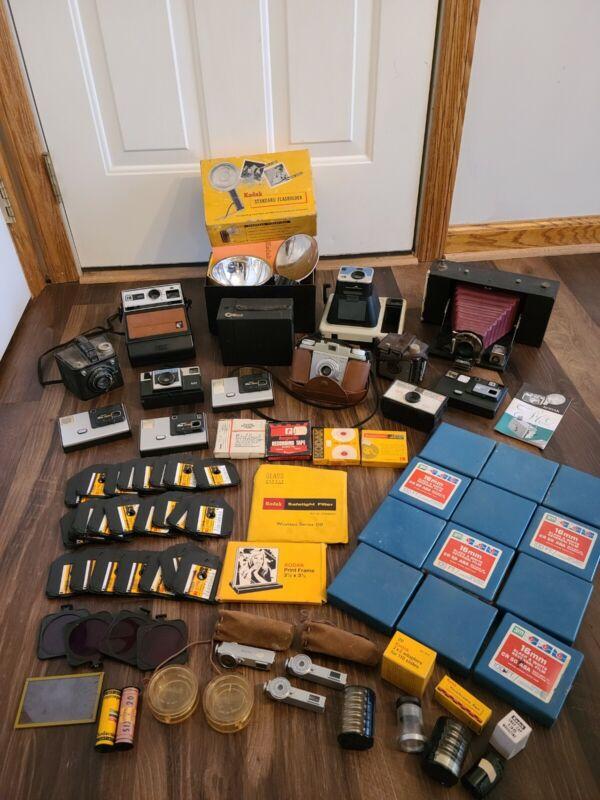 Huge Vintage Kodak Camera and Film Collection