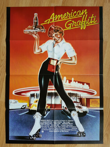 AMERICAN GRAFFITI rare German 1-sheet poster 1973 GEORGE LUCAS Chevy Cruising