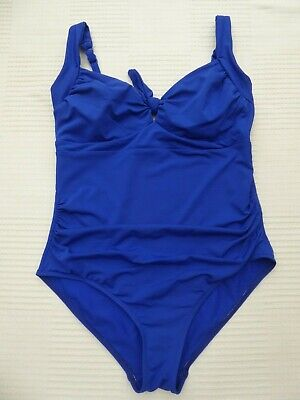 Jets by Jessika Allen blue padded top adjust strap swimming costume Size 14