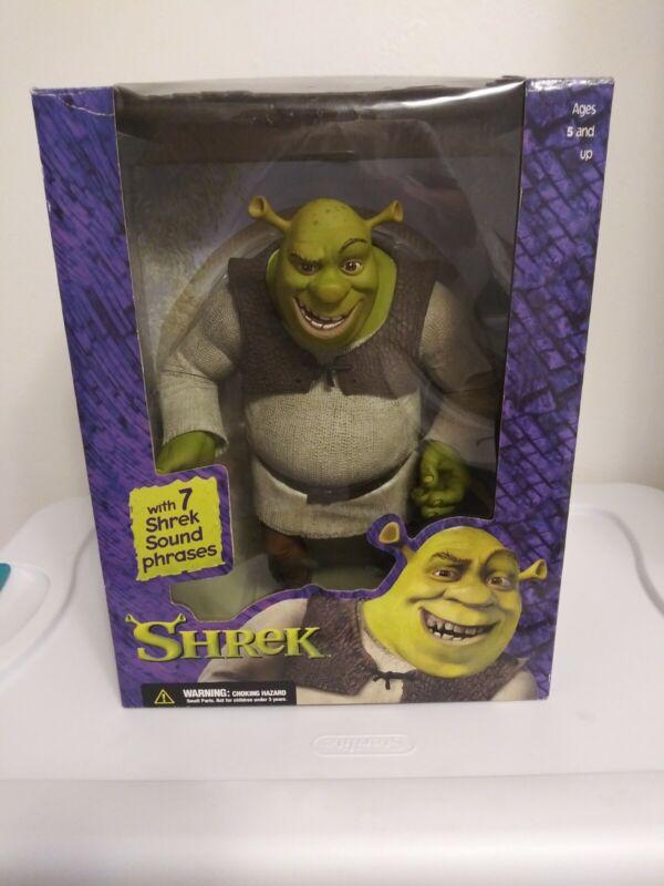Shrek McFarlane 2001 Talking Action Figure With 7 Shrek Sound Phrases