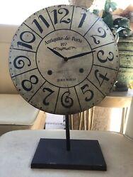 Antiquite de Paris 28 Rue Murillo Standing 16 Clock Rustic Vintage Style +Batt