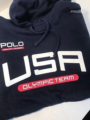 POLO RALPH LAUREN USA OLYMPIC TEAM PULL OVER HOODIE SIZE XL POLO RALPH LAUREN XL