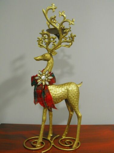 Christmas Kringle Express Standing Metal Reindeer