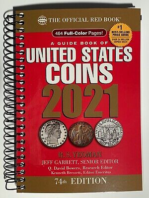 2021 Red Book Price Guide to U.S. Coins Spiral Bound, 74th Edition, Yeoman
