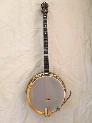 Bacon & Day Silver Bell #4 Plectrum Banjo #20424, All Original and aka B&D