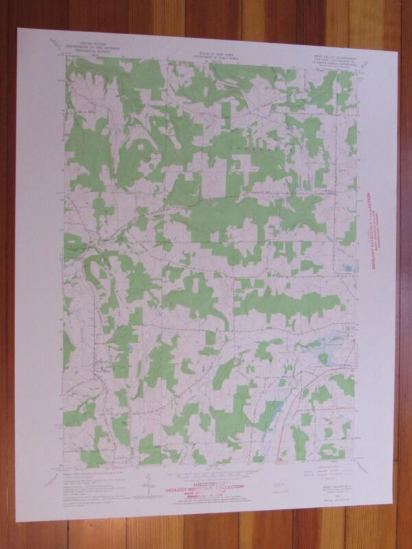 West Valley New York 1965 Original Vintage USGS Topo Map