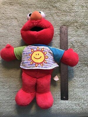 Sesame Street Singing Elmo Stuffed Doll Wearing Bilingual Sunny Day Plush 2001