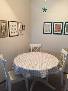 IKEA Kitchen Table and Chair Set with table expander
