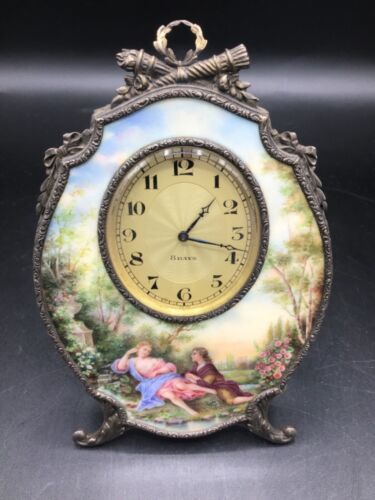 Outstanding Vienna Enamel Painted and Gilt Bronze Easel Form Clock