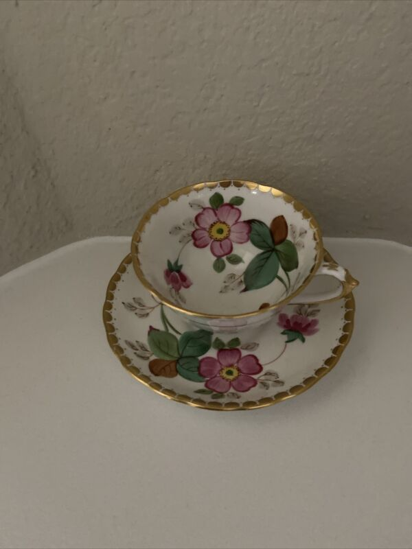 Vintage TUSCAN Hand Painted Bone China England  CUP & SAUCER