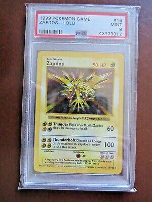 Pokémon Cards - Base Set Shadowless holo PSA 9 Zapdos