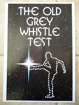 "THE OLD GREY WHISTLE TEST, TV ADVERT FLYER SIZE A4 8.2"" X 11.7"""