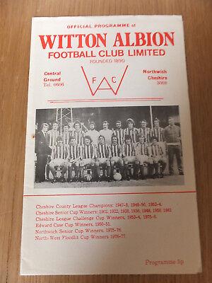 Witton Albion v New Mills 1977-1978