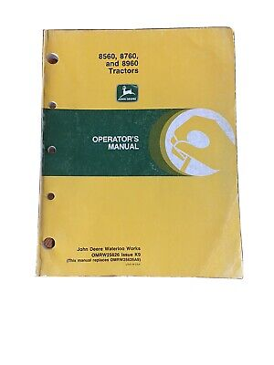 John Deere 8560 8760 8960 Tractor Operators Manuals Omrw25626