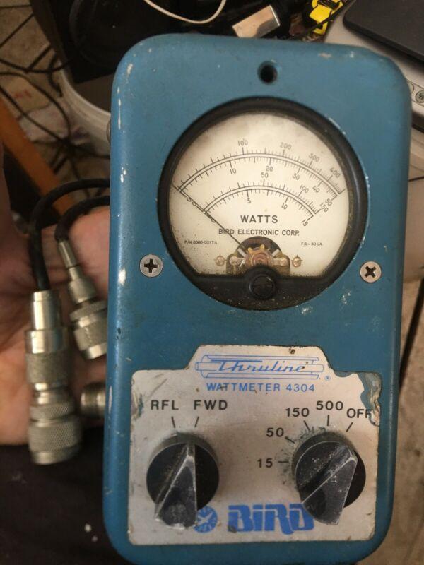 Bird 4304 wattmeter - 15 to 500 watts full scale, needs no element. Well used.