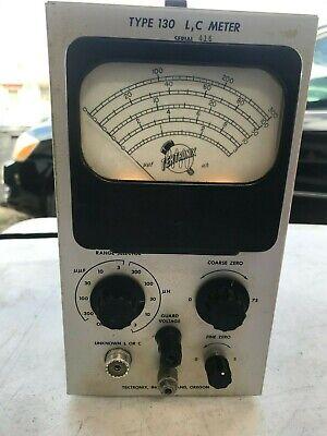 Vintage Tektronix Type 130 L C Meter Inductance Capacitance