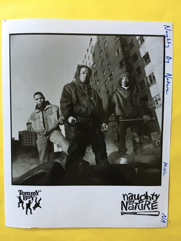 "Naughty By Nature Press Photo 8x10"", Treach, Vinnie, Kaygee, Arista. See Info."