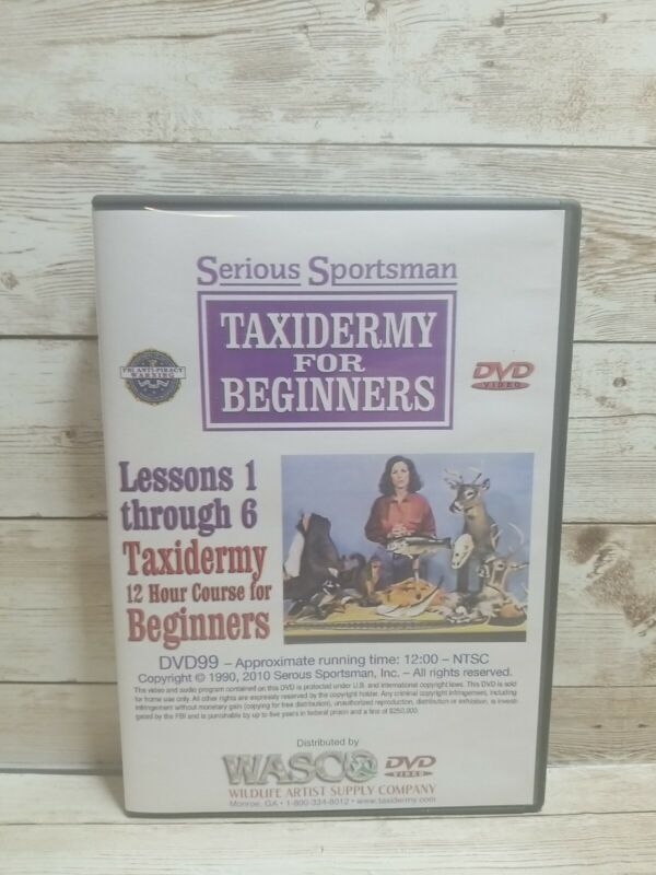 Taxidermy for beginners 6 DVD set 12 Hours 1990s instructional USA Seller