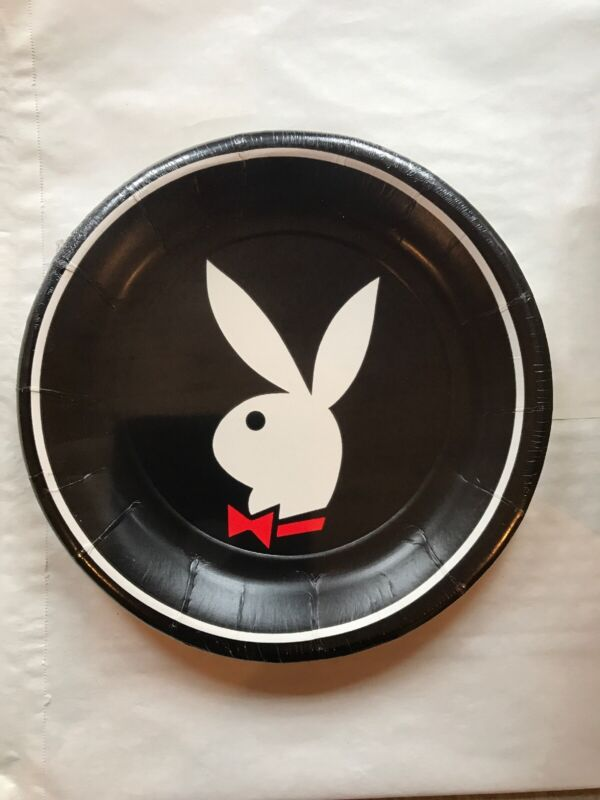 Vintage Playboy Bunny Logo Bachelor Party Plates Case Of 12 Packs 96 Plates