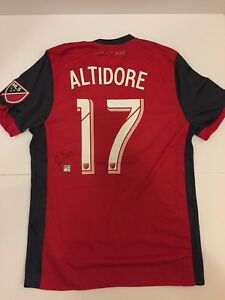 Authentic 2017 Toronto FC Home Jersey signed by Jozy Altidore