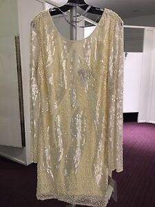 BRAND NEW JS COLLECTION BEEDED SEQUINED DRESS | SIZE 16