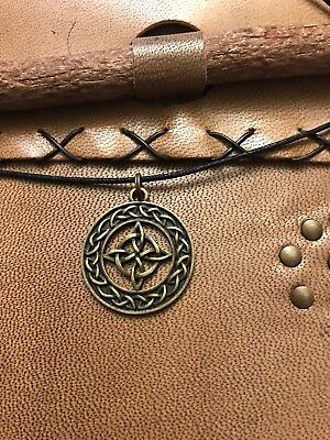 - Bronze Celtic Witches Knot With Adjustable Necklace