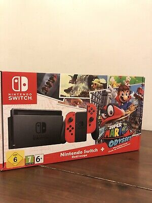 Nintendo Switch Super Mario Odyssey Edition (with Red Joy-Cons) 32GB Red Console