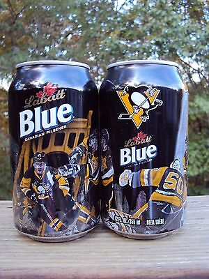 LABATTS BLUE  2016-2017 Limited Edition PITTSBURGH PENGUINS 12oz. beer can NHL