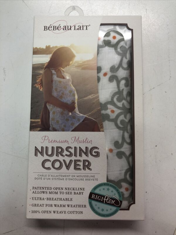 Premium Muslin Nursing Cover With Rigiflex Open Neckline