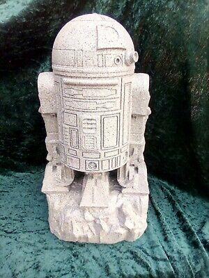 Star Wars R2-D2 Unique Custom Painted Granite Look Garden Ornament (Indoors)