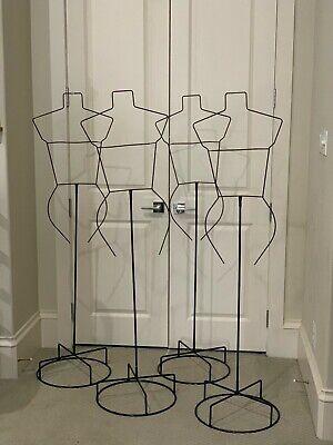 Four 4 Female Women Mannequin Torso Dress Stand. 62 X 16.50