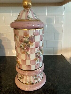 mackenzie childs pink honeymoon column canister - hard to find, discontinued.