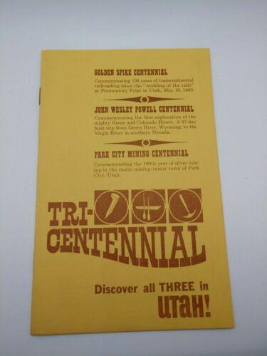 Vintage 1969 Utah Tri-Centennial Promotional Brochure Booklet