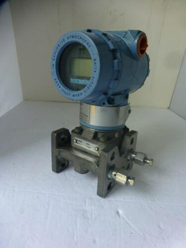 Rosemount pressure transmitter 3051 Max wp 2000psi/138Bar CD1A03A1AH3M515 (#1)