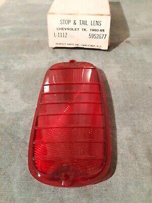 1960 - 1965 Chevrolet Fleetside Pickup Truck Stop & Tail Light Lamp Lens NORS