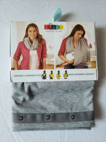 NuRoo Nursing Scarf, Heather Gray NIP