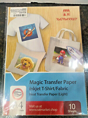 New Iron On Transfer Paper For Light Fabric Magic Paper By Raimarket 10 Sheets