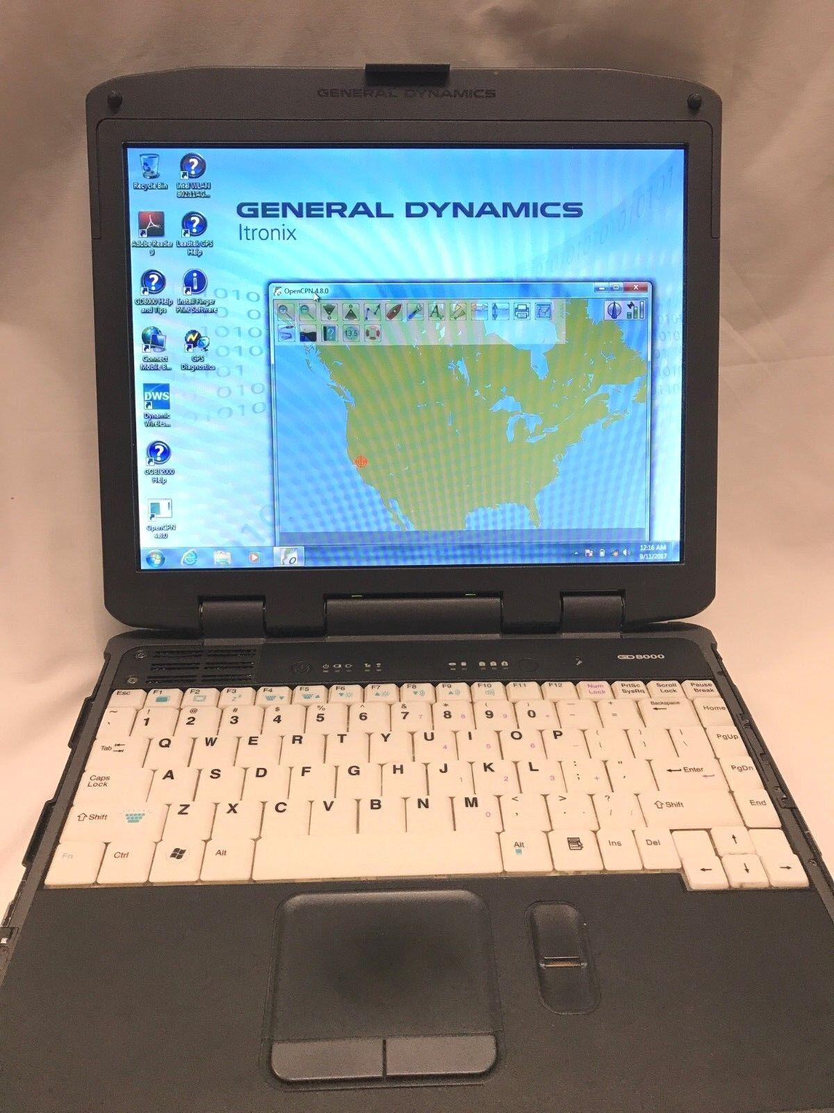General Dynamics GD8000 160GB HDD Touchscreen Rugged GPS Backlit