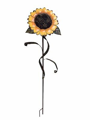 "48""Tall Large Sunflower Stake Metal Garden Yard Decor Lawn Decoration Outdoor"