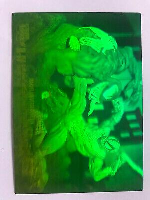 Vintage 1993 Marvel Universe Series 4 H-IV Spiderman vs Venom 3D Hologram Card