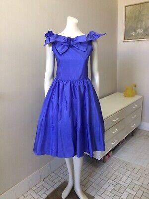 80s Dresses | Casual to Party Dresses Original Vintage 80s Dress Purple , Full Skirt , Small Size  , Party Retro Dress $46.82 AT vintagedancer.com