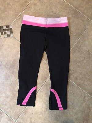 lululemon run inspire crop 8 Black Pink