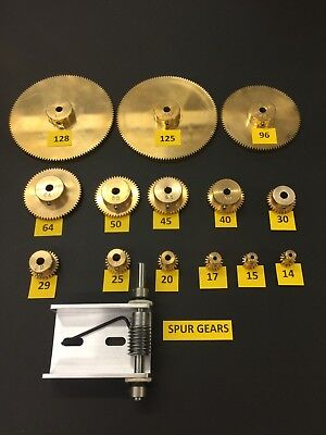 Matching Set Of Worm Gears With Ez Cinch Worm Bracket 14 Bore And Set Screws