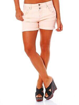 Boy Kurze (Only Damen kurze Hose Bermuda Lise Antifit Sommer Shorts Boyfriend neon orange)